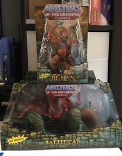 NEW MOTUC Battle Cat and He-Man Masters of the Universe Classics Combo Set