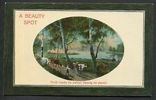 C1910 Studio Art Card 'A Beauty Spot' Country Scene