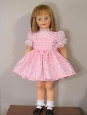 "PRETTY 2 PC PINK EYELET DRESS & PINAFORE FOR 35"" PATTI PLAYPAL DOLL CLOTHES"