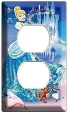 PRINCESS CINDERELLA POWER OUTLET PLATE CHILDREN'S GIRLS PLAY GAME ROOM BEDROOM