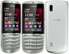 New Condition Nokia Asha 300 Silver White 3G Unlocked 5MP Tocuh  Type   Phone
