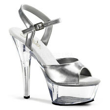 "Pleaser Kiss-209 Shoes Platform Sandals 6"" Stiletto High Heels Ankle Strap New"