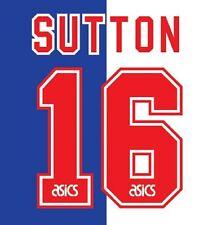 N. 16 Sutton Blackburn Rovers Home 1995-1996 CALCIO Nameset per maglia
