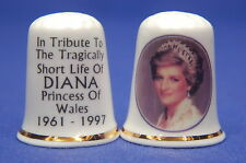 Diana Princess of Wales Tribute 1961-1997 Tiara China Thimbles  B/51