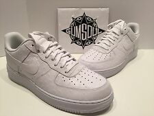 NIKE AIR FORCE 1 '07 LV8 TRIPLE WHITE OSTRICH 718152 104 sz 14