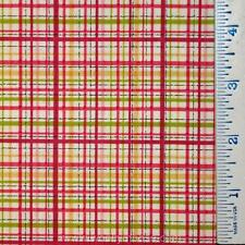 HALF YARD Leanne Anderson INSPIRATION GARDEN Henry Glass PINK PLAID Fabric 1/2YD