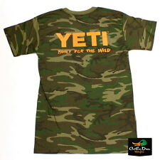 NEW YETI COOLERS BUILT FOR THE WILD LOGO T-SHIRT SHORT SLEEVE SMALL CAMO