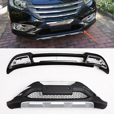 2PCS Front + Rear Bumper Modified replace for Honda CRV 2012-2014