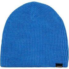 NIXON New Mens Headwear Knit Beanie Hat Blue