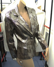 Joseph Ribkoff BNWT 10 Utterly Divine Animal Print Effect Elegant Metalic Jacket