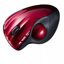 Sanwa Wireless Trackball Laser Mouse Red MA-WTB43R