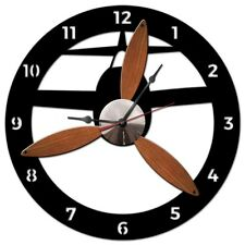 """3-D Propeller 18"""" Wall Clock - Hand Made in the USA with American Steel"""