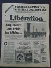 Bombe Sud-Africaine -Libération du 29/10/1979- Un os dans le Cassoulet Spanghero