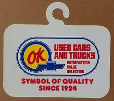 """OK CHEVROLET """"DEAL of the DAY"""" USED CARS and TRUCKS DEALERSHIP MIRROR TAG"""