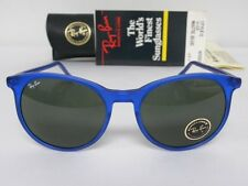New Vintage B&L Ray Ban Traditionals Style C Matte Blue W0667 Round  USA NOS