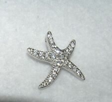 Starfish Sparkly Cubic Zirconia Pendant Sterling Silver Nautical