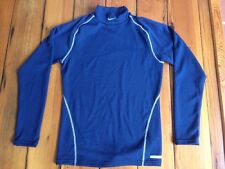 Nike Sphere Dry Navy Blue Mens Long Sleeve Team Pro Workout Sports Shirt M