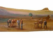 Scene Agreste Olio su legno cm 26 x 74 - Vittorio Ribaudo