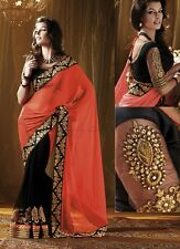 Saree Exclusive Beautiful Designer Bollywood Indian SAREE Partywear Sari 107