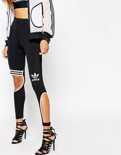 Adidas Originals Rita Ora W Black Cut Leggings Size UK 6, EU 32, US XS New (505)