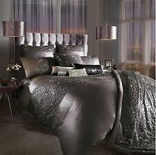 KYLIE MINOGUE EVA MAUVE SATIN DOUBLE 200TC COTTON 7 PIECE BEDDING SET