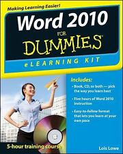 Word 2010 eLearning Kit For Dummies by Lowe, Lois