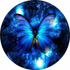 PERSONALISED ELEGANT BLUE BUTTERFLY, CAR TAX DISC HOLDER SAME DAY FREEPOST