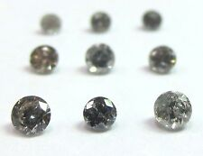 1/4 Carat 2mm GREY BRILLIANT CUT ROUND POLISHED DIAMONDS 3 pointers