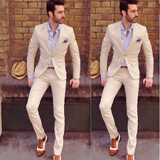 Hot Mens Slim Fit Wedding Suits Groom Tuxedos Groomsmen Formal Suit Jacket+Pants
