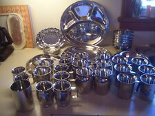 Stainless Steel Plates Cups Serving Dishes Bowls India Pati  Thali