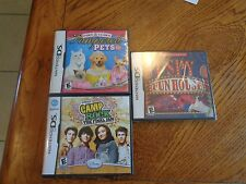 Lot of 3 NINTENDO DS GAMES 1 is new sealed LOOK