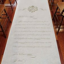 Parisian Love Letter PERSONALIZED Aisle Runner Wedding Ceremony Decoration