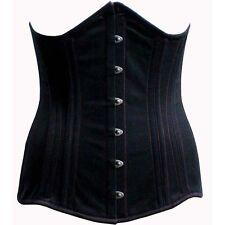 Cotton underbust duble steel boned corset for long torso