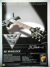 PUBLICITE-ADVERTISING :  Guitare B.C.RICH  12/2002 NJ Warlock