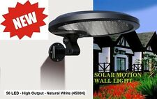56 LED - 5 WATT - SOLAR Security Light Motion Activated - Hi & Lo White LED