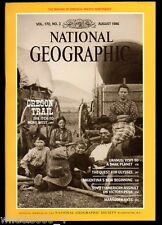National Geographic August 1986 Northwest Oregon Trail Uranus Ulysses Argentina
