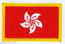 PATCH ECUSSON BRODE DRAPEAU HONG KONG INSIGNE THERMOCOLLANT NEUF FLAG PATCHE