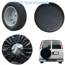 "Black for 15""  Spare wheel cover rear spare tyre wheel cover Vinyl Size M"