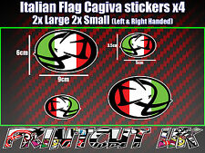 Cagiva Italian Logo Stickers x4 mito raptor supercity planet roadster canyon sxt