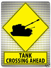 CALL OF DUTY street metal sign funny TANK CROSSING MANCAVE game room decor 237
