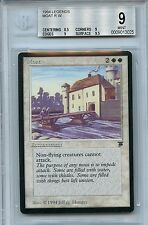 MTG Legends Moat BGS 9 Mint card 1994 Magic the Gathering WOTC