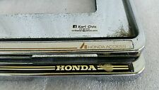 USED JDM GENUINE HONDA ACCESS License Plate Frame Holder CIVIC CRX ACCORD FIT