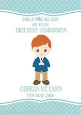 Personalised Boy Communion Card Design 6 Red Hair
