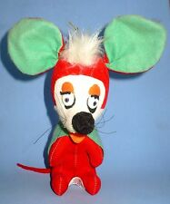 VINTAGE 1960'S HERMAN PECKER BIG MOUSE STUFFED ANIMAL TOY JAPAN