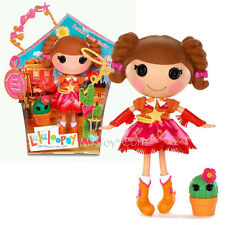 """NEW HOT Lalaloopsy 12"""" Tall Button Rag Doll  Prairie Dusty Trail + Plant Cactus"""