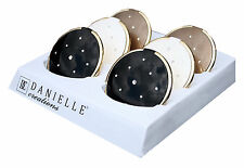 Danielle Ladies Glossy Black Compact Mirror Swarovski Elements Gift Idea