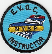 NEW YORK STATE POLICE EVOC INSTRUCTOR (EMERG. VEH. OPER. COURSE) V2 PATCH NYSP