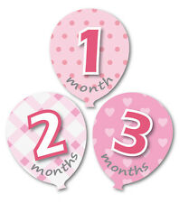 MuchMore Girl Baby Monthly Stickers Balloon Shape Shower Gift Onesie Photo Prop