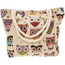 Tapestry Owl Tote/Shopping Bag Style 64895 New