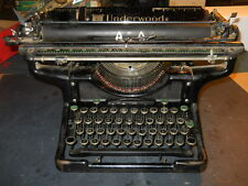 "VINTAGE  UNDERWOOD TYPEWRITER  STANDARD 20"" CARRIAGE PATENT DATED 1923"